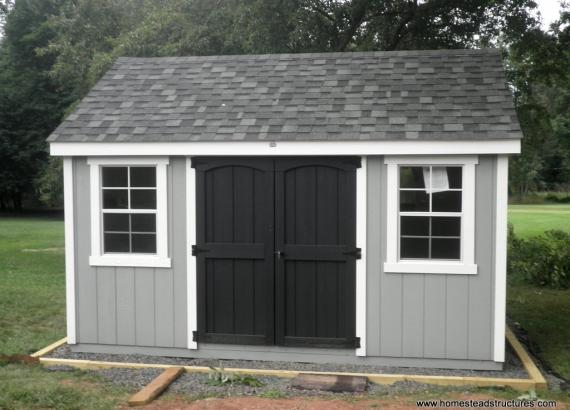 10' x 12' A-Frame Laurel Shed with D-Temp siding