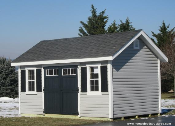 10' x 16' Classic A-Frame shed with radiant barrier