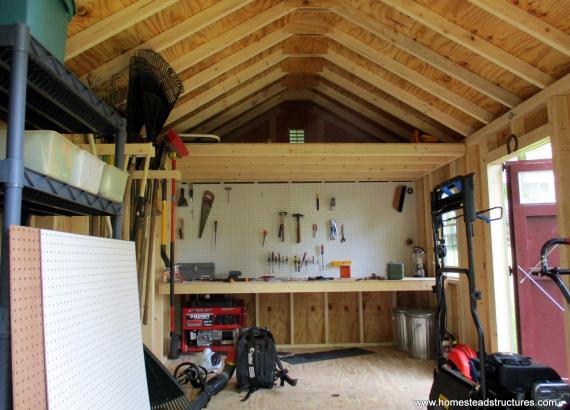 Interior of a 10x16 Classic A-Frame Shed