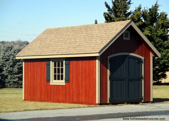 10' x 16' Classic A-Frame Shed with Double Eyebrow DOor