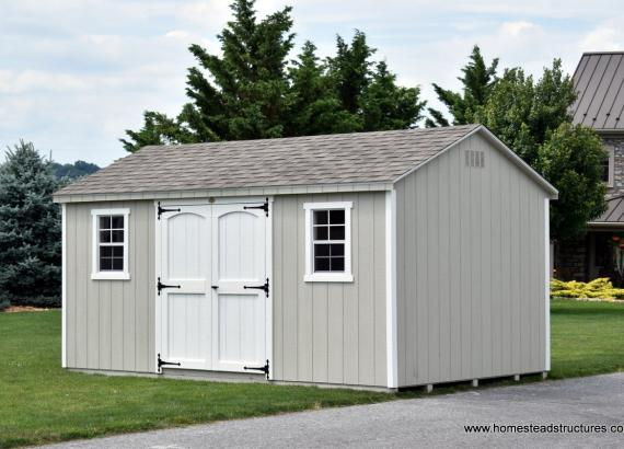 10' x 16' Keystone A Frame Shed in Silver Maple Color
