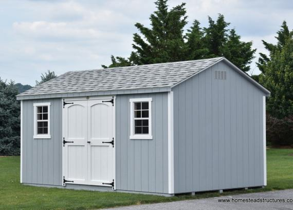 10' x 16' Keystone A Frame Shed in Light Gray Color