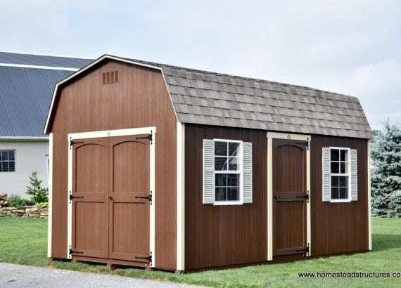 10' x 16' Keystone Dutch Barn with extra door