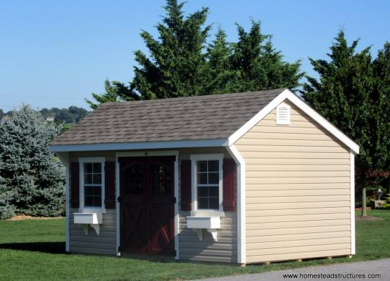 10' x 16' Laurel Quaker Shed in Maine