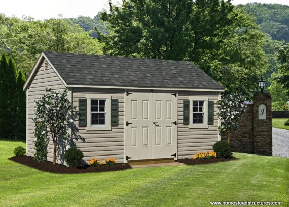 10' x 16' Laurel Series A Frame Shed (Vinyl Siding)