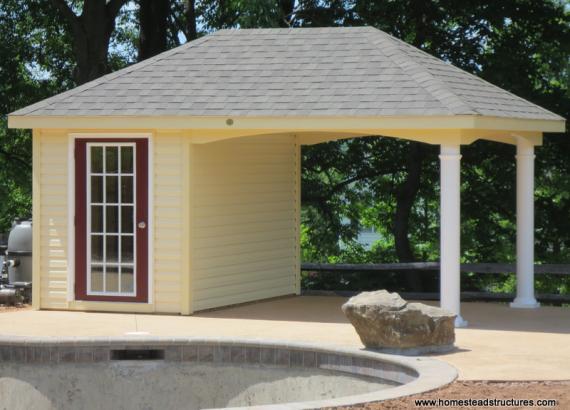 10' x 16' Avalon Pool House (vinyl siding)