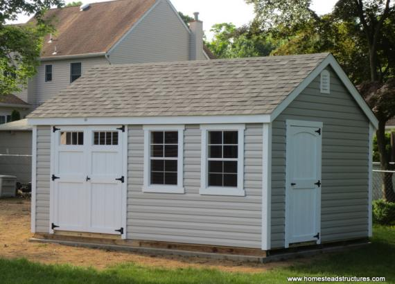 10' x 16' Laurel A-Frame Shed (Vinyl Siding)