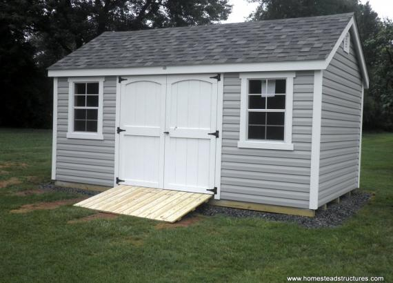 10' x 16' Laurel A-Frame Shed with vinyl siding
