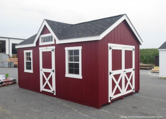 10' x 18' Laurel Chalet/Victorian Shed in Bellingham, MA