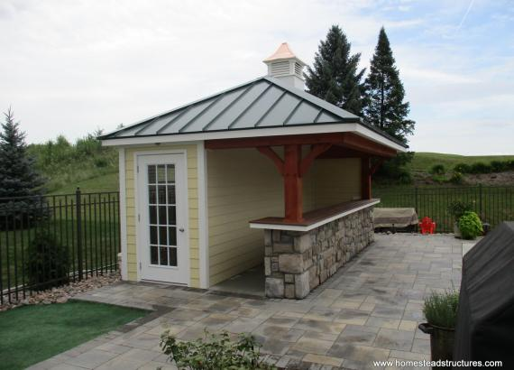 10' x 18' Siesta Poolside Bar with Metal Roof in Lockport, IL