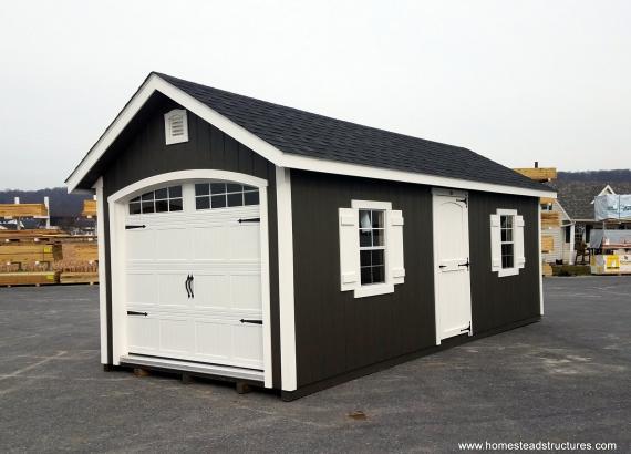 12' x 24' Classic 1-Car Amish-Built Garage