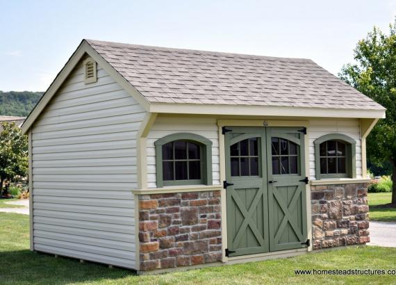 12' x 14' Laurel Carriage House Shed in NJ