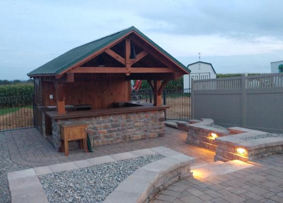 12' x 14' Timber Frame Siesta Poolside Bar in Elizabethtown PA