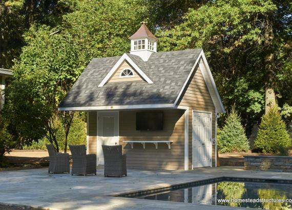 12' x 14' Custom Heritage Liberty Pool House