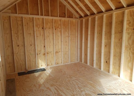 12x16 Century A-Frame Interior