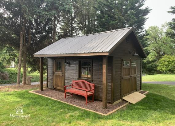 12'x 16' Classic A-Frame Pool Shed - Heritage Style