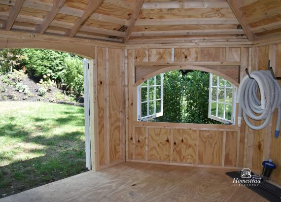 Interior of 12x16 Garden Belle with Stone Malvern PA