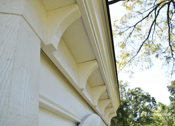 Dentil molding on Garden Belle