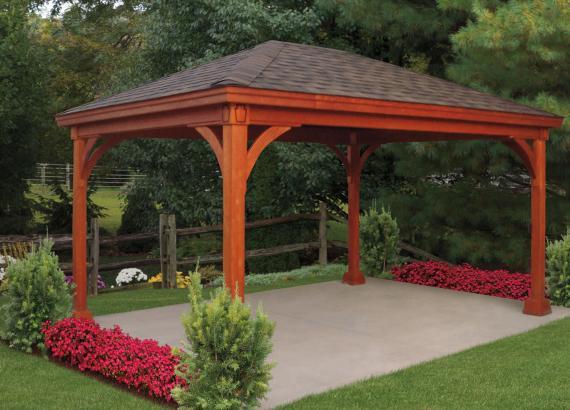 12' x 16' Keystone Wood Pavilion