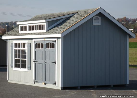 12' x 16' Classic A Frame Shed (D-Temp siding)