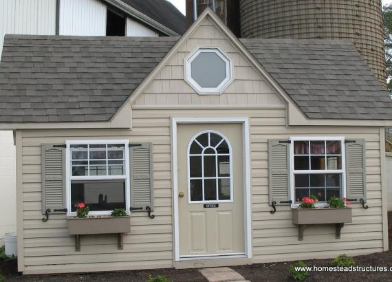 12' x 16' Classic Victorian Shed (with vinyl siding)