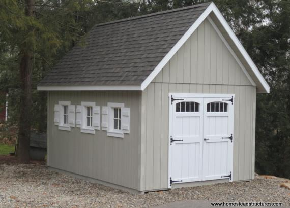 12' x 16' Liberty A Frame Shed (D-Temp siding)