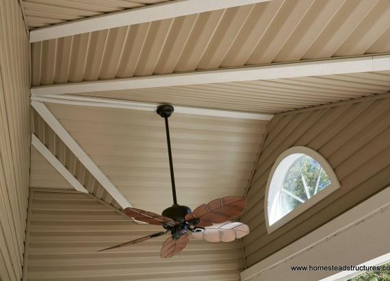 12' x 20' Wellington - Porch ceiling with fan