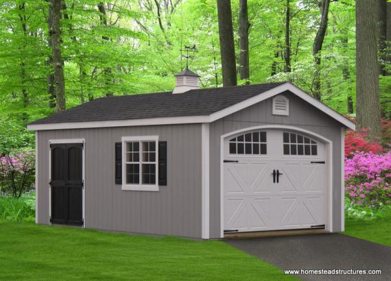 12' x 24' Classic Garage (D-temp Siding)