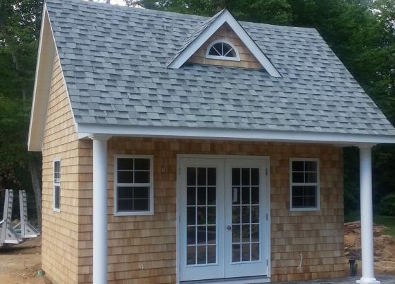 14' x 16' Heritage Liberty Pool House (Cedar Shakes siding)