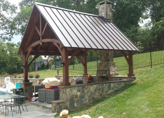 14' x 16' Timber Frame Pavilion
