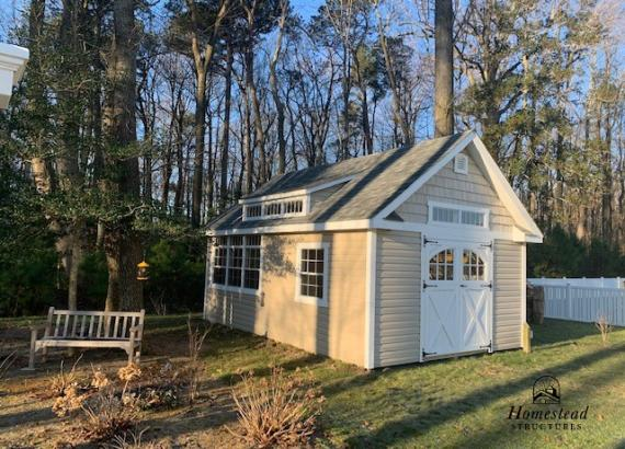 14' x 20' Century A-Frame Shed with 3 Transom Dormer and extra windows