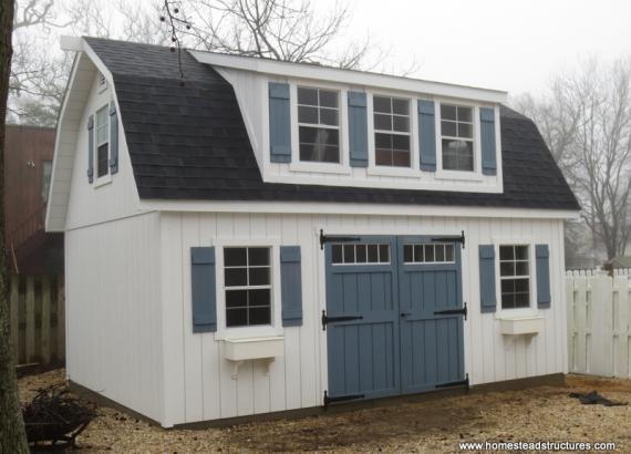 14' x 20' Liberty Dutch Barn Shed (D-Temp Siding)