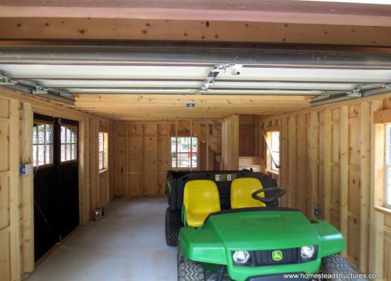 Interior of 14' x 24' Liberty A Frame Shed & Garage in Maryland