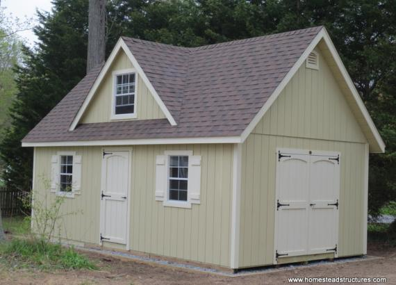 14' x 24' Liberty A Frame Shed w/ Reverse Gable (D-temp Siding)