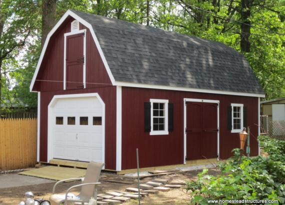14' x 26' Liberty Dutch Barn Shed (D-Temp Siding)