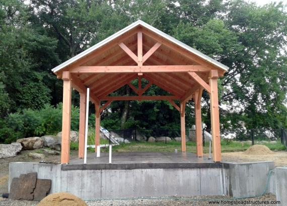 15' x 20' Timberframe Pavilion in West Bridgewater MA