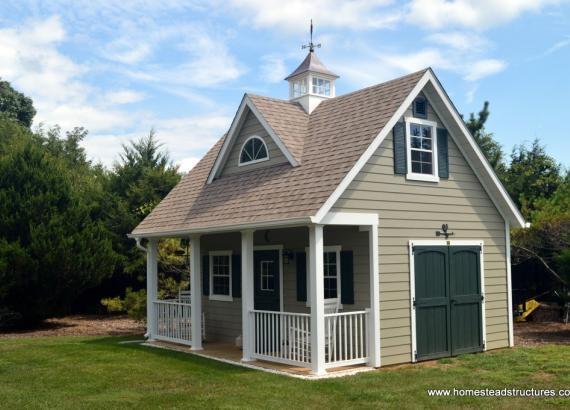 16' x 20' Heritage pool house turned shed workshop