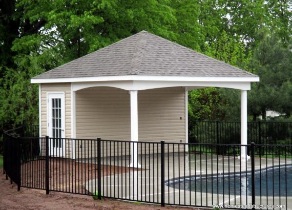 16' x 16' Avalon Pool House in Perkasie, PA