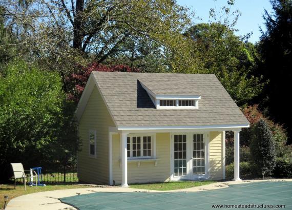 16' x 16' Heritage Century Pool House with dormer in Moorestown, NJ