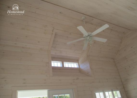White-washed Pine interior with ceiling fan and dormer in Moorestown, NJ
