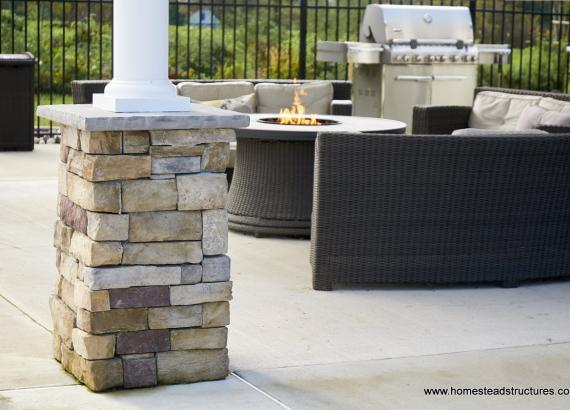 Stone Footings for Avalon Pool House Columns
