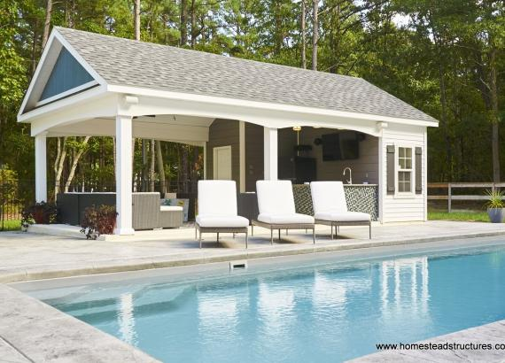16' x28' A-Frame Avalon Pool House with Bar in Franklinville NJ