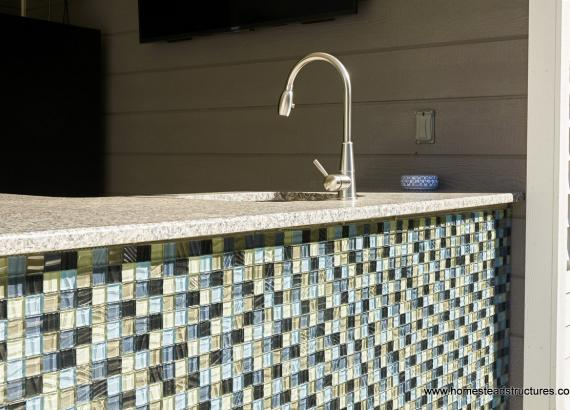 Bar Backsplash in 16x28 Avalon Pool House