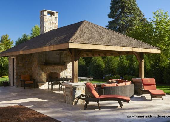 16x30 Custom Timber-Frame Pavilion & Avalon Hybrid - New Jersey