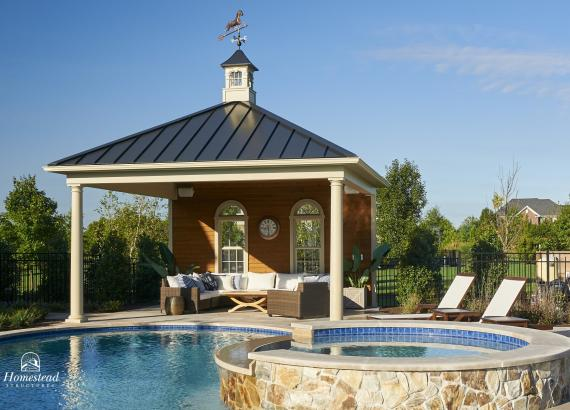 18' x 18' Avalon Pool House with metal roof in Allentown NJ