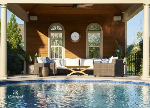 Interior of 18x18 Avalon Pool House in Allentown NJ