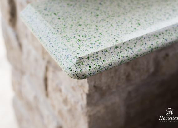 18' x 18' Custom Vintage Pavilion detail of countertop
