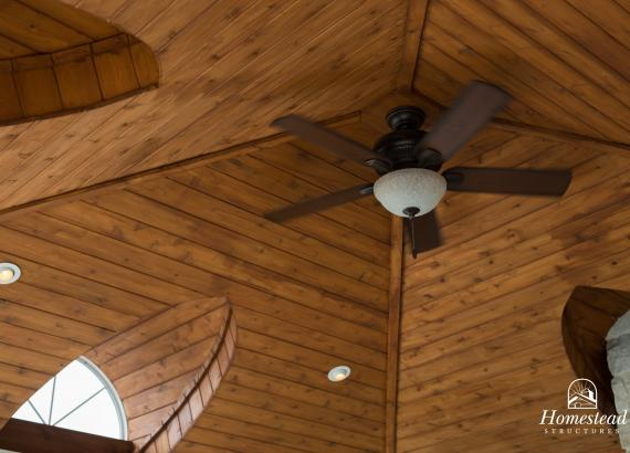 18' x 18' Custom Vintage Pavilion cedar stained roof & ceiling fan