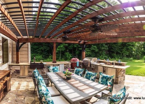18' x 20' Wood Pergola Kit for Luna Builds in MO