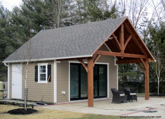 18x14 Century Custom Pool House with 18x8 Timber Frame Porch in Gwynedd Valley ,PA